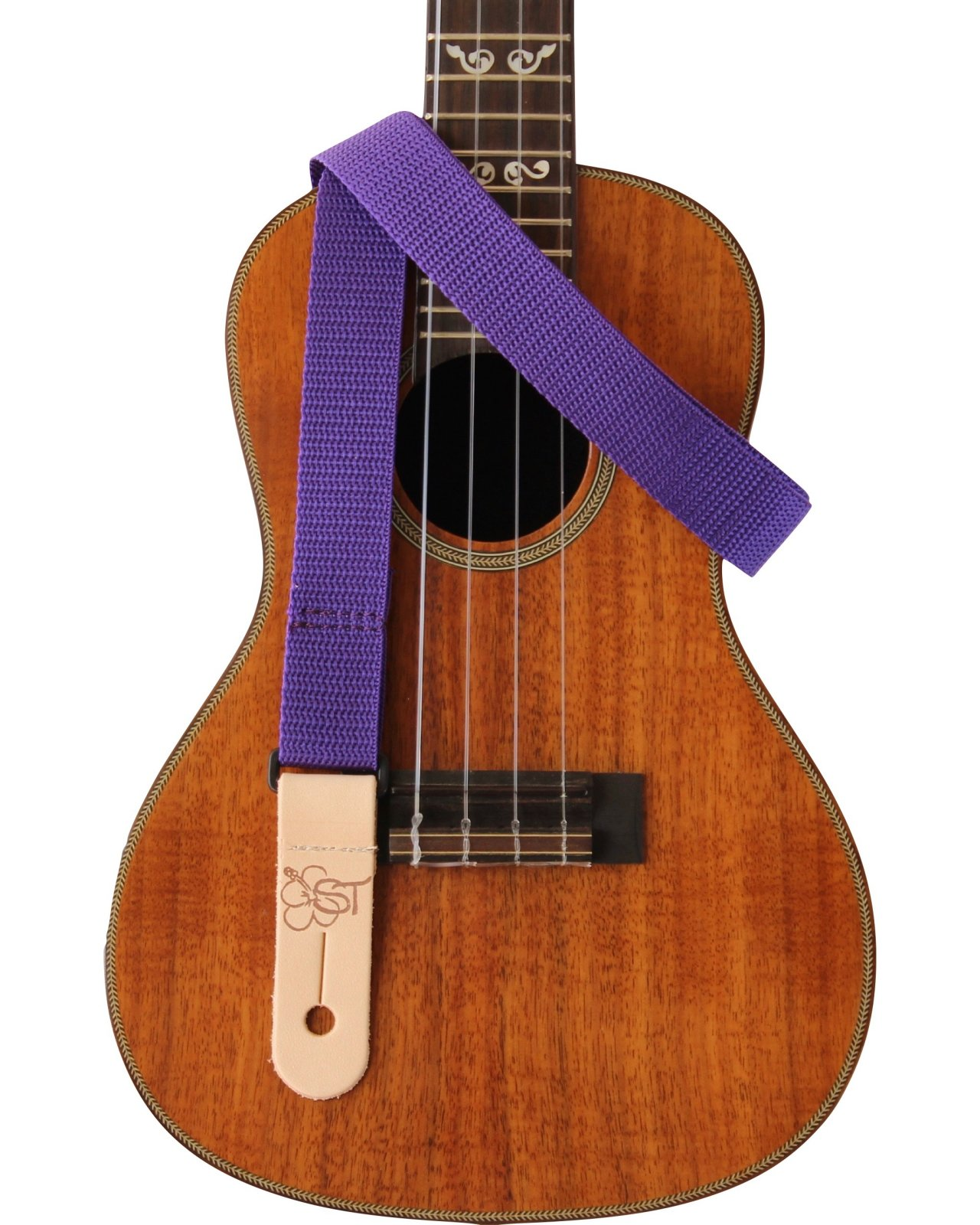 Sherrin's Threads 1 Purple Ukulele Strap