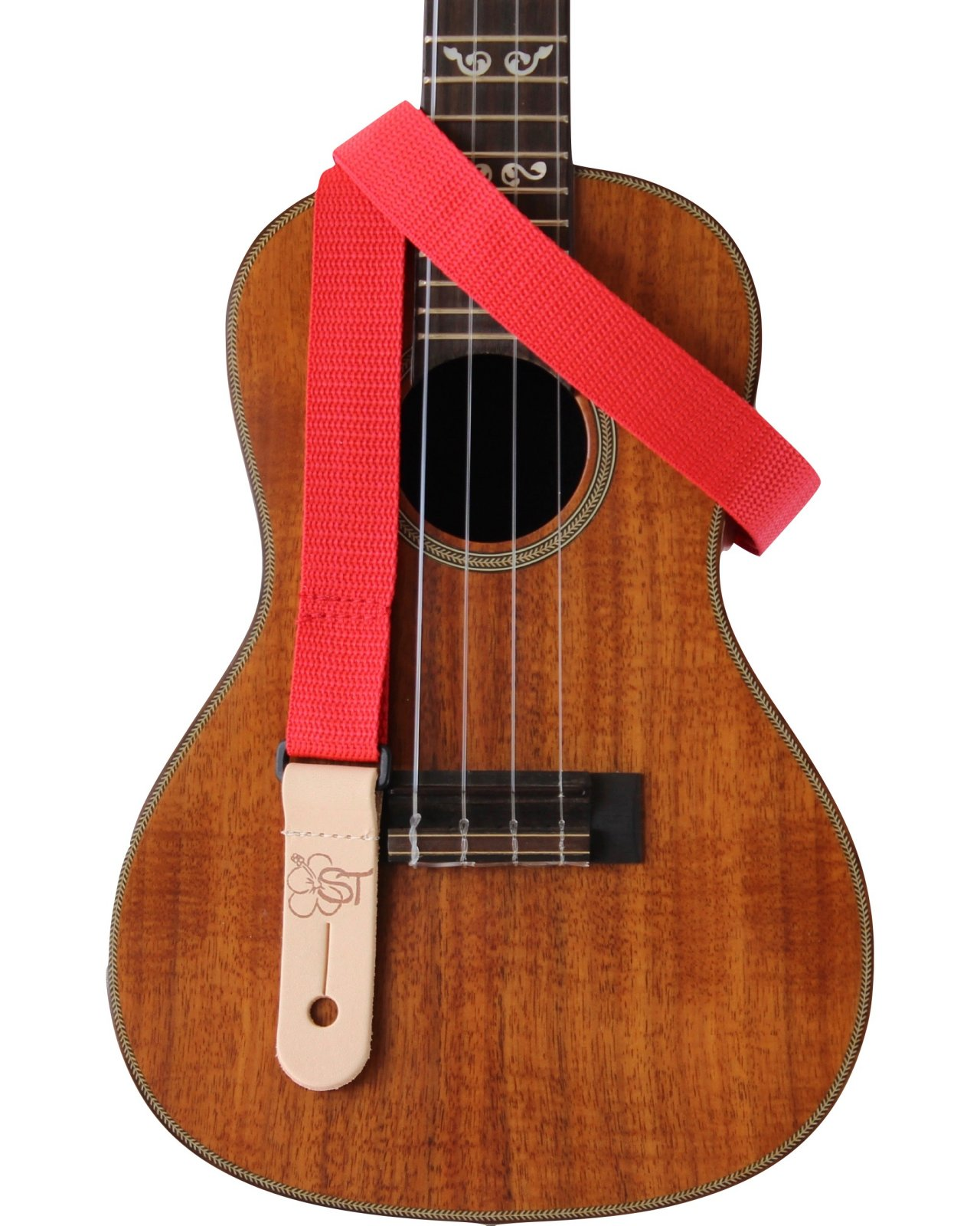 Sherrin's Threads 1 Red Ukulele Strap