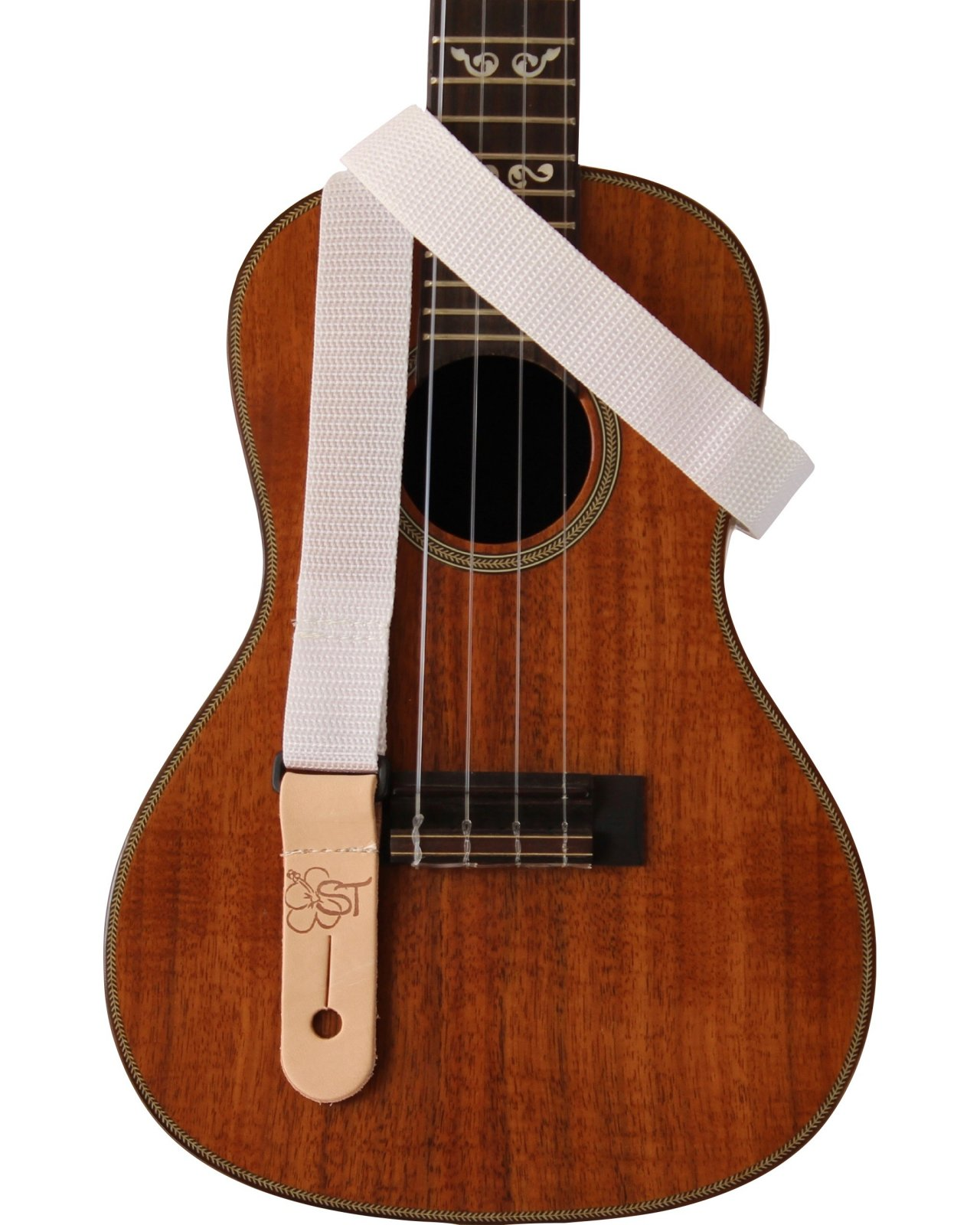 Sherrin's Threads 1 White Ukulele Strap