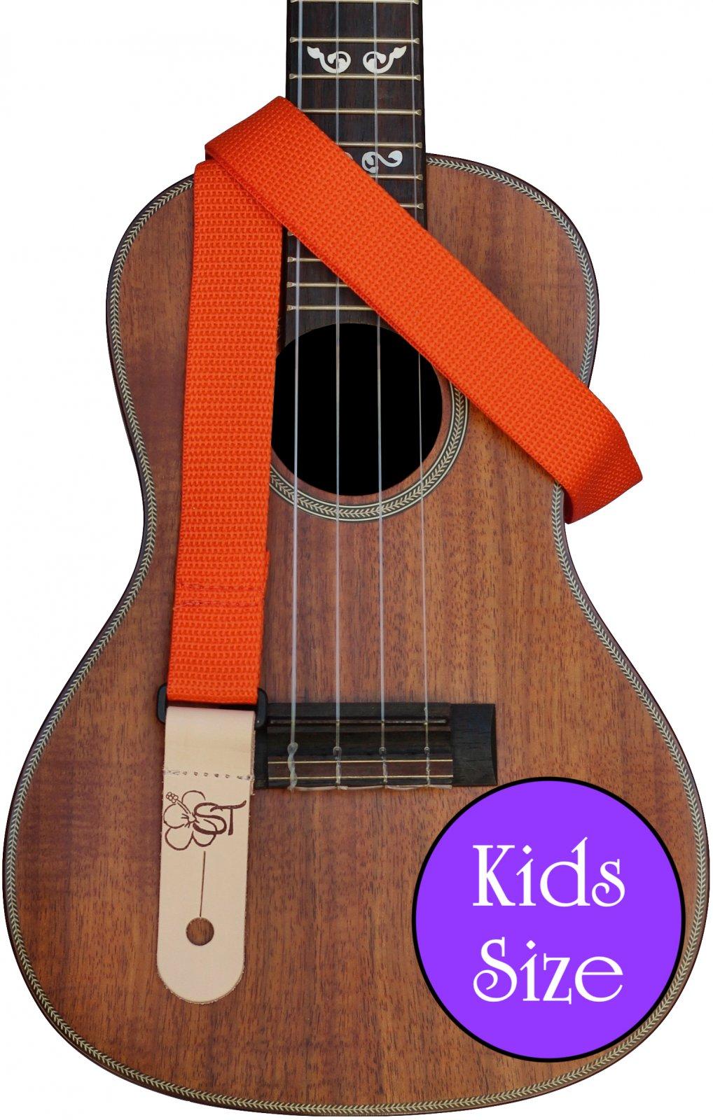 Sherrin's Threads 1 Poly Kids Ukulele Strap - Orange