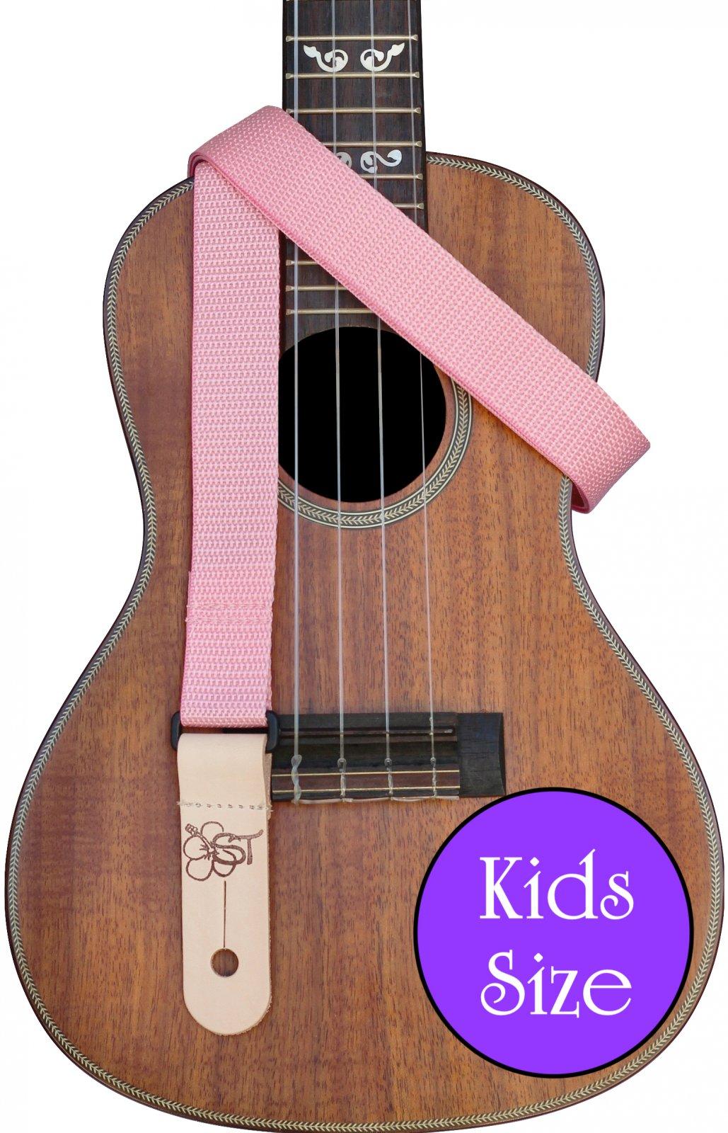 Sherrin's Threads 1 Poly Kids Ukulele Strap - Pink