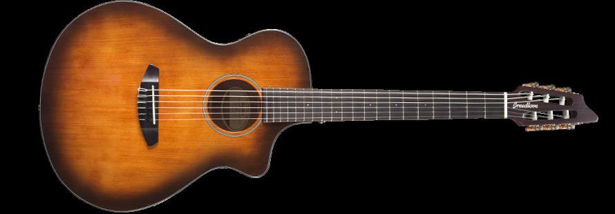 Breedlove DSCN04NCEESMA Discovery Concert Nylon Acoustic-Electric Guitar - Bourbon Engelmann-Mahogany