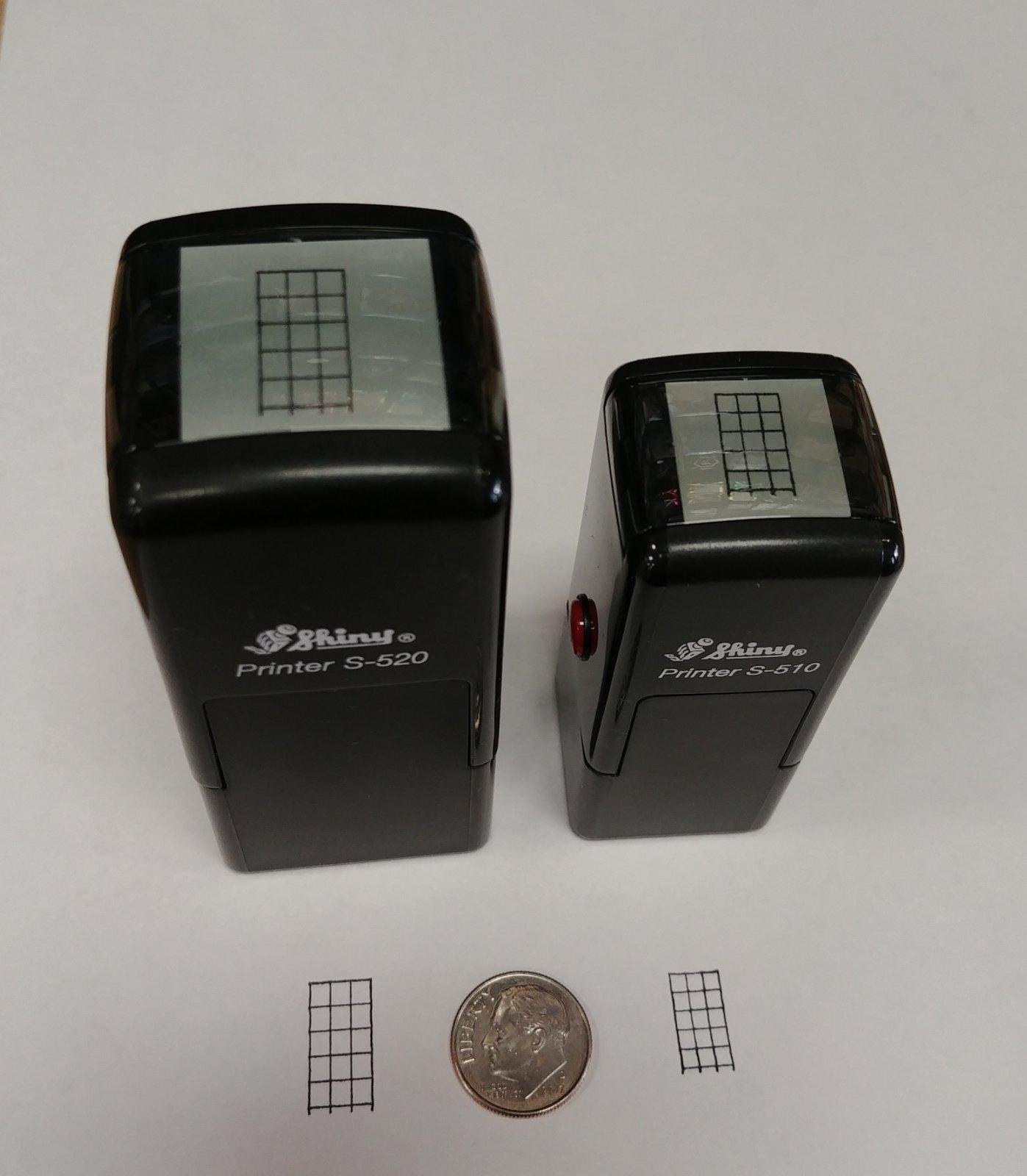 Aeromark Small 4-String Self-Inking Fret Stamp