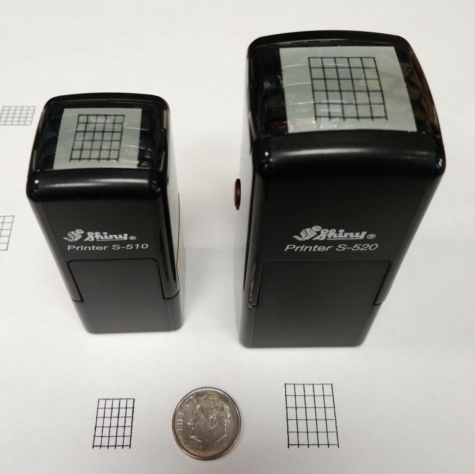Aeromark Small 6-String Self-Inking Fret Stamp
