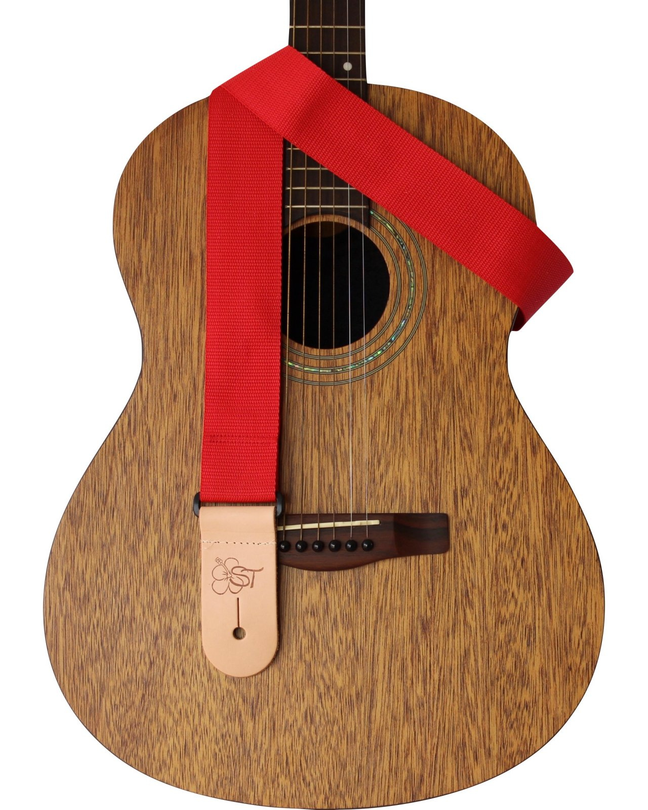 ST 2 Red Guitar Strap