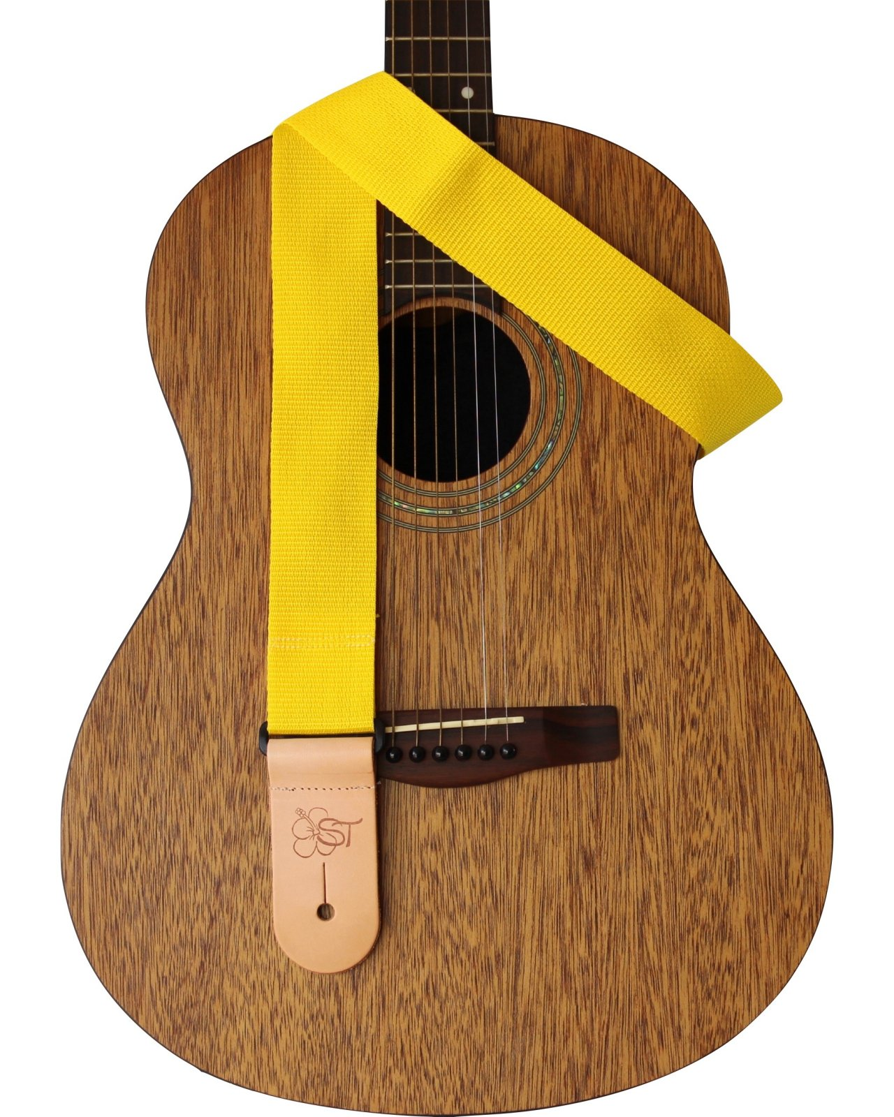 ST 2 Yellow Guitar Strap