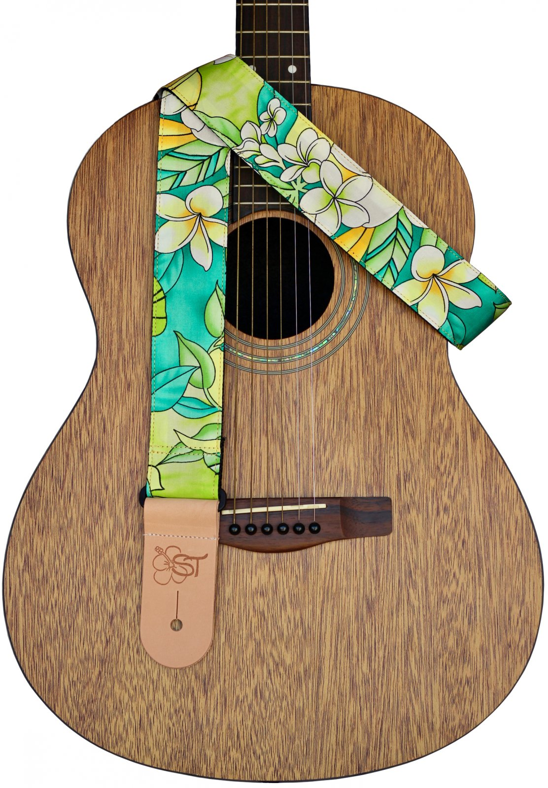 Sherrin's Threads 2 Hawaiian Print Guitar Strap - Aloha Spring