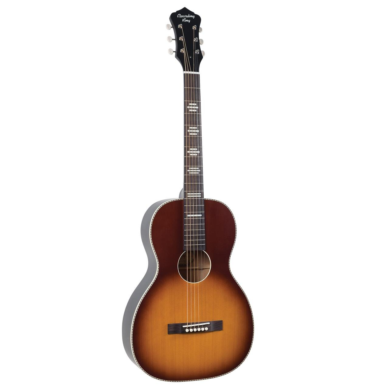 Recording King Dirty 30s series 7 Parlor Acoustic Guitar - Sunburst