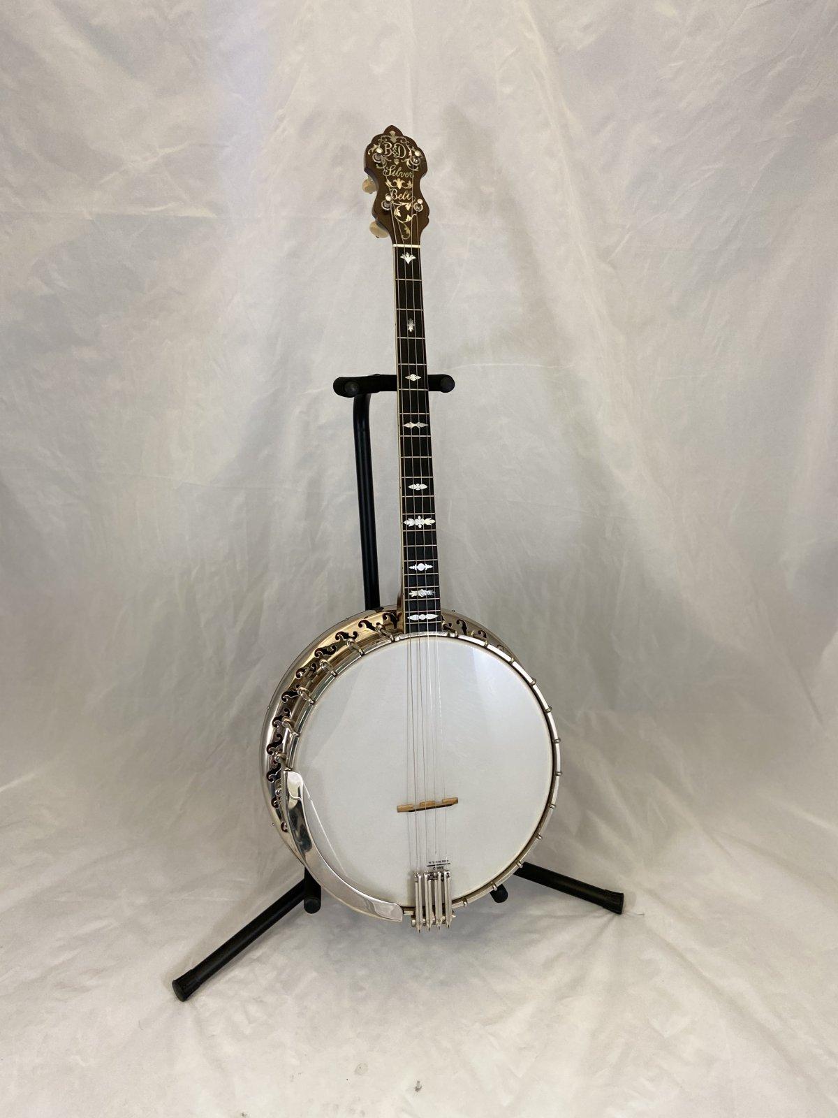 Preowned Bacon & Day 1927 Silver Bell No. 1 Tenor Banjo w/Case