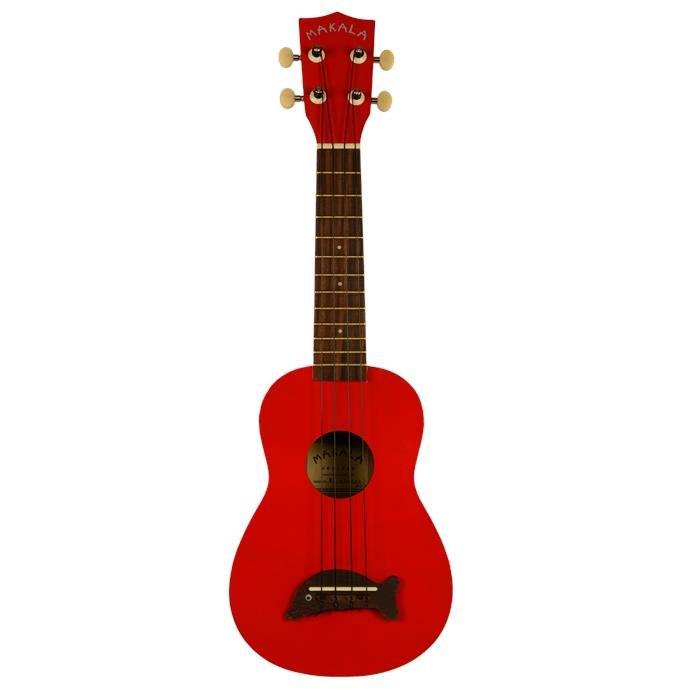Makala Dolphin Soprano Ukulele - Candy Apple Red Sparkle