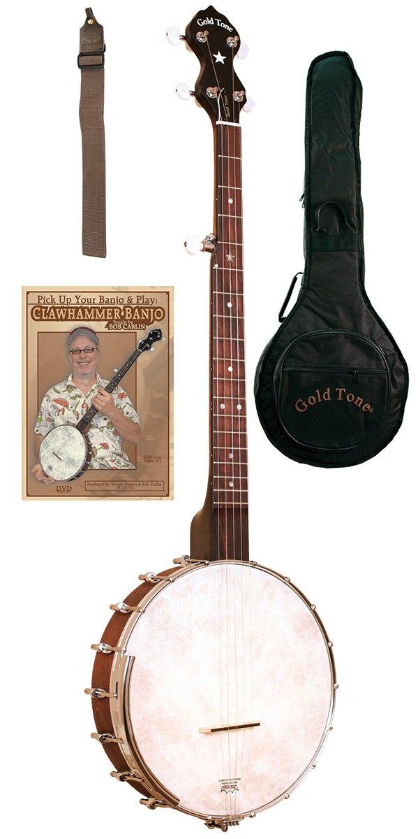 Gold Tone CC-OT Cripple Creek Clawhammer Banjo Pack w/Bag