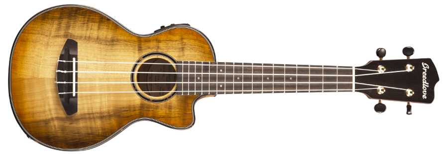 Breedlove LUCU21CEMYMY Lu'au Concert Acoustic-Electric Ukulele - Natural Shadow - All Myrtlewood