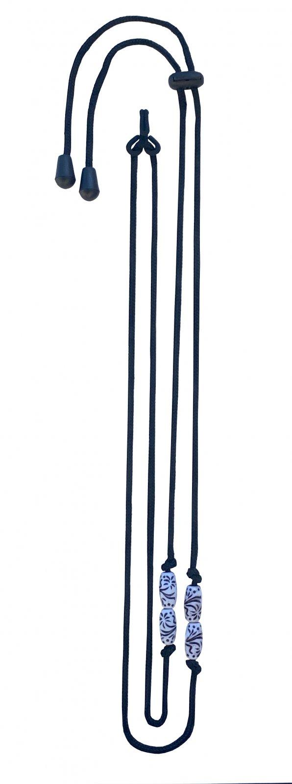 Sherrin's Threads Corded Neck Strap - White