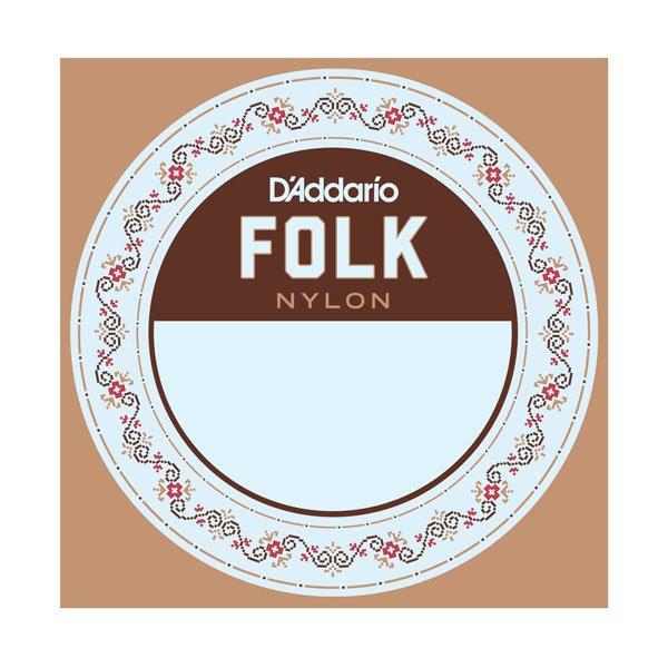 D'Addario Folk Nylon Ball End Nylon Guitar String .028