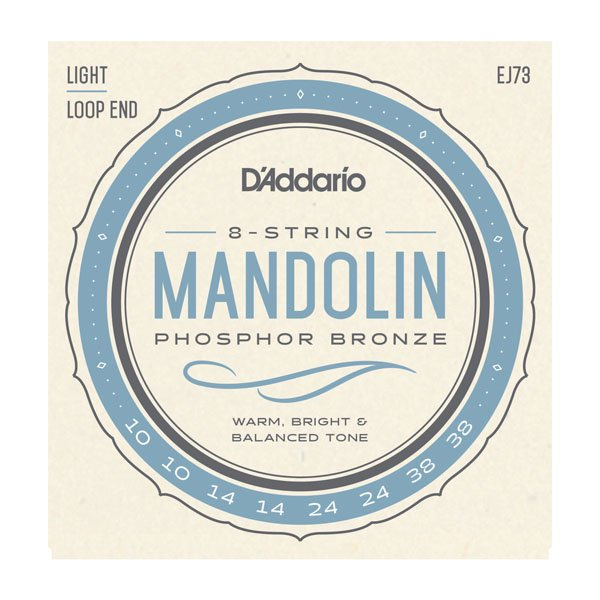 D'Addario EJ73 Phosphor Bronze Mandolin Strings Light .010-.038