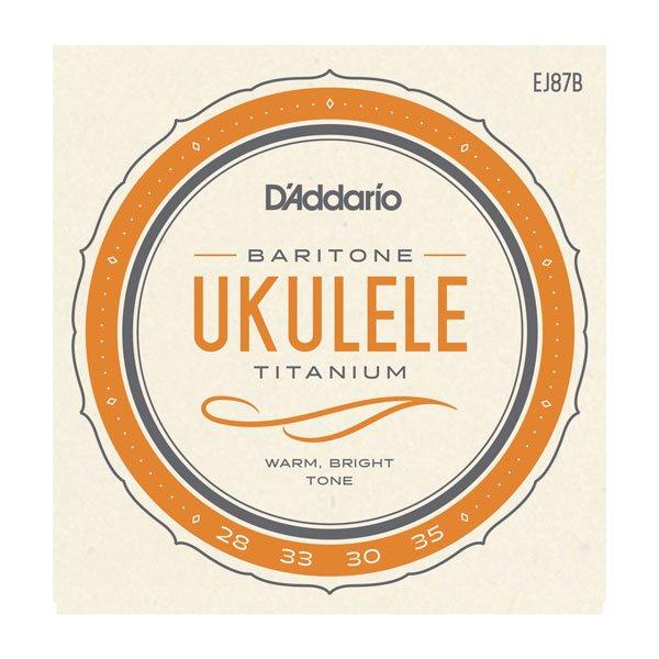 D'Addario EJ87B Titanium Ukulele Strings - Baritone