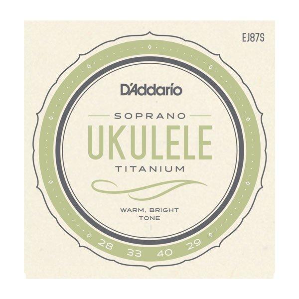 D'Addario EJ87S Titanium Ukulele Srings - Soprano