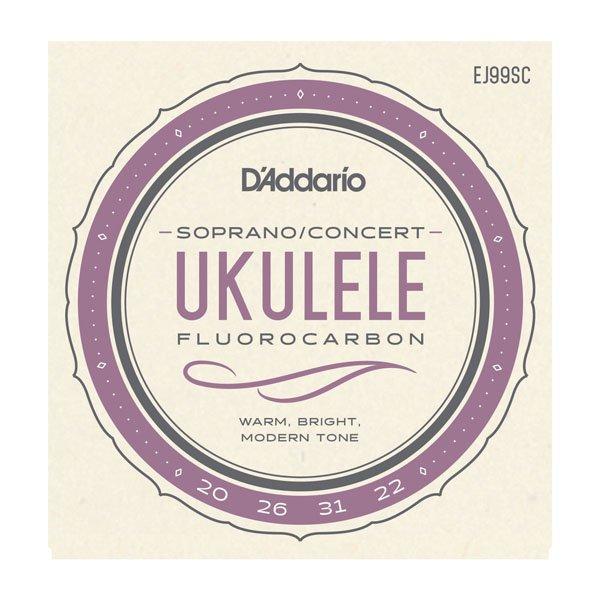 D'Addario EJ99SC Pro-Arte' Carbon Ukulele Strings, Soprano / Concert