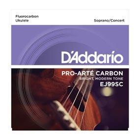 D'Addario EJ99SC Carbon Soprano/Concert Ukulele Strings