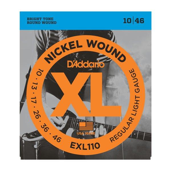 D'Addario EXL110 Nickel Wound Electric Guitar Strings - Regular Light, 10-46