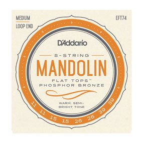 D'Addario EFT74 Flat Tops Mandolin Strings - Medium, 11-39