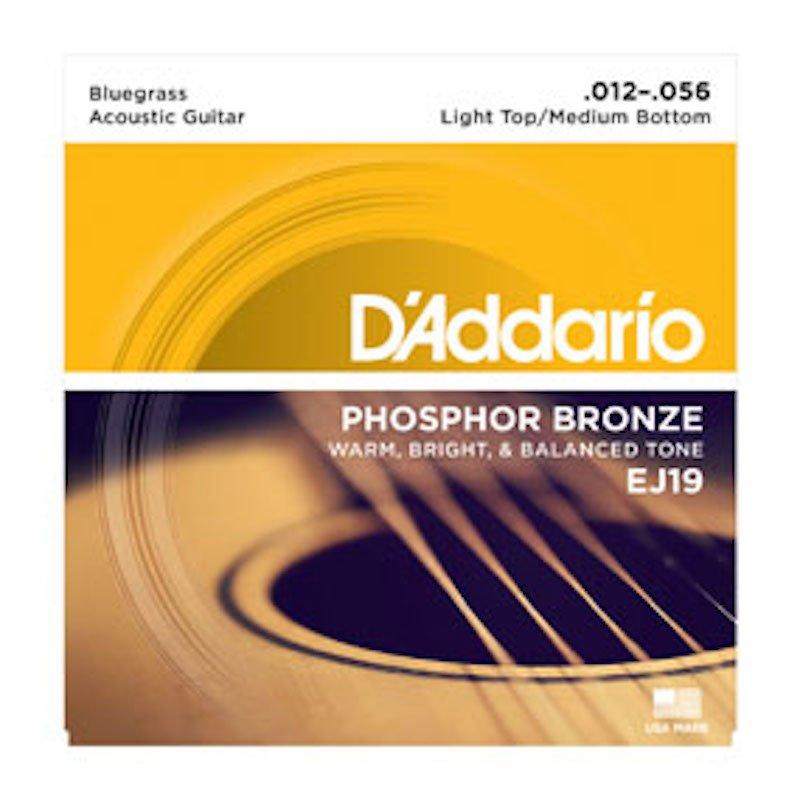 D'Addario EJ19 Phosphor Bronze Guitar Strings Bluegrass .012-.056