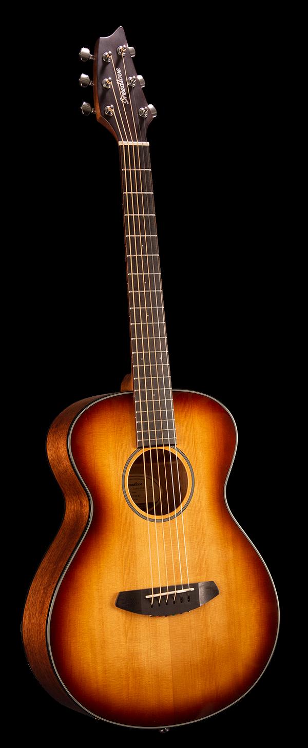 Breedlove Discovery Companion Acoustic Guitar - Sunburst Sitka - Mahogany