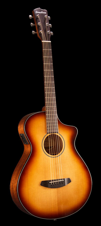 Breedlove Discovery Concertina Acoustic - Electric Guitar - Sunburst Sitka-Mahogany