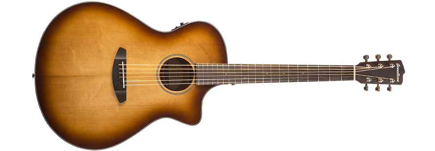 Breedlove Discovery Concerto Acoustic-Electric Guitar - Sunburst Sitka-Mahogany