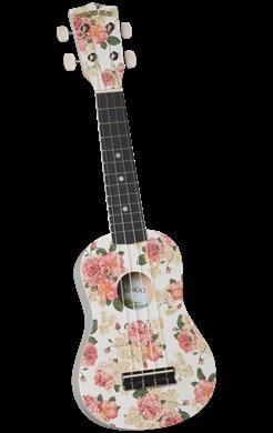 Diamond Head DU-134 Soprano Ukulele - White Floral