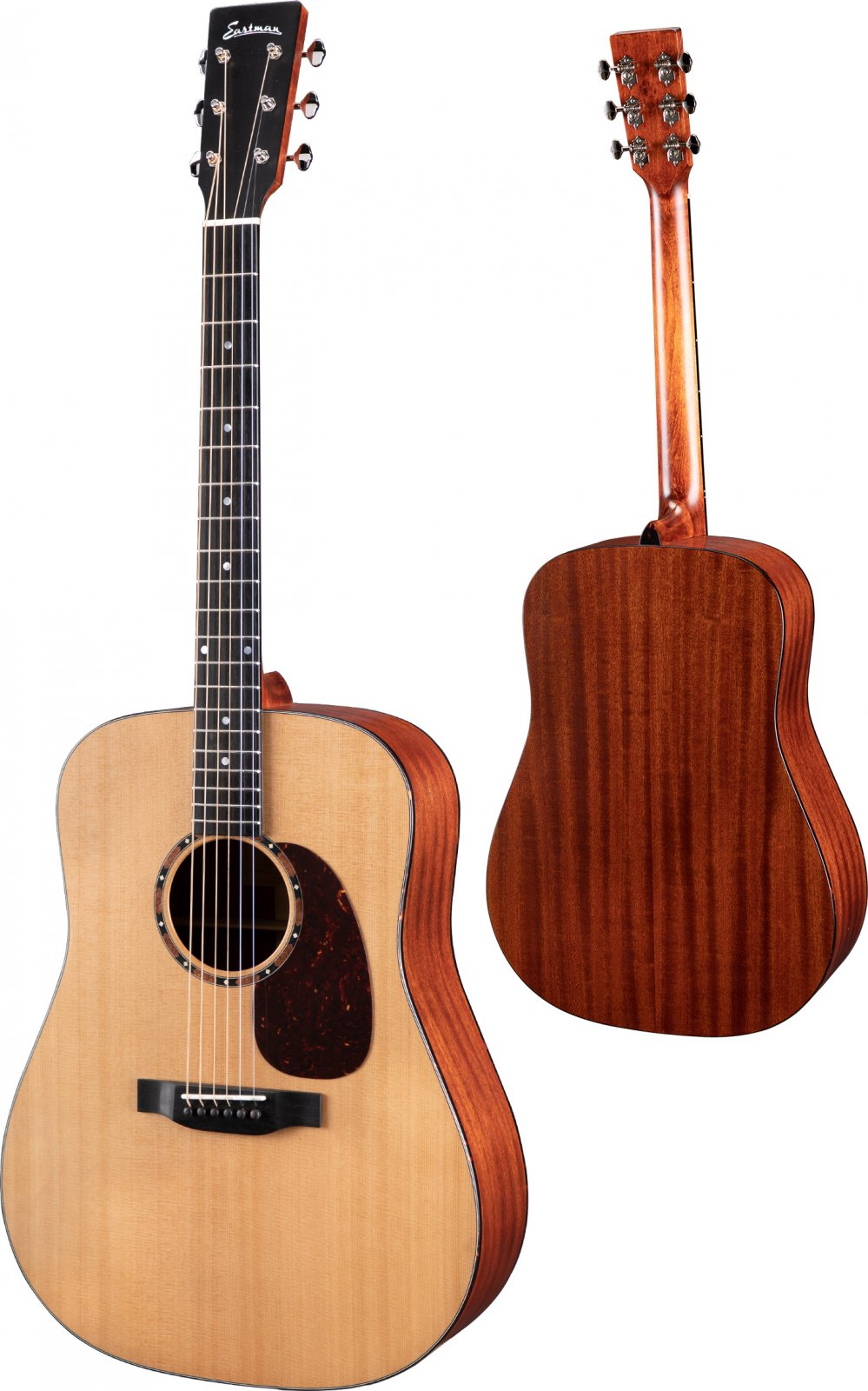 Eastman E2D Dreadnought Guitar - Solid Cedar/ Solid Sapele w/gig bag