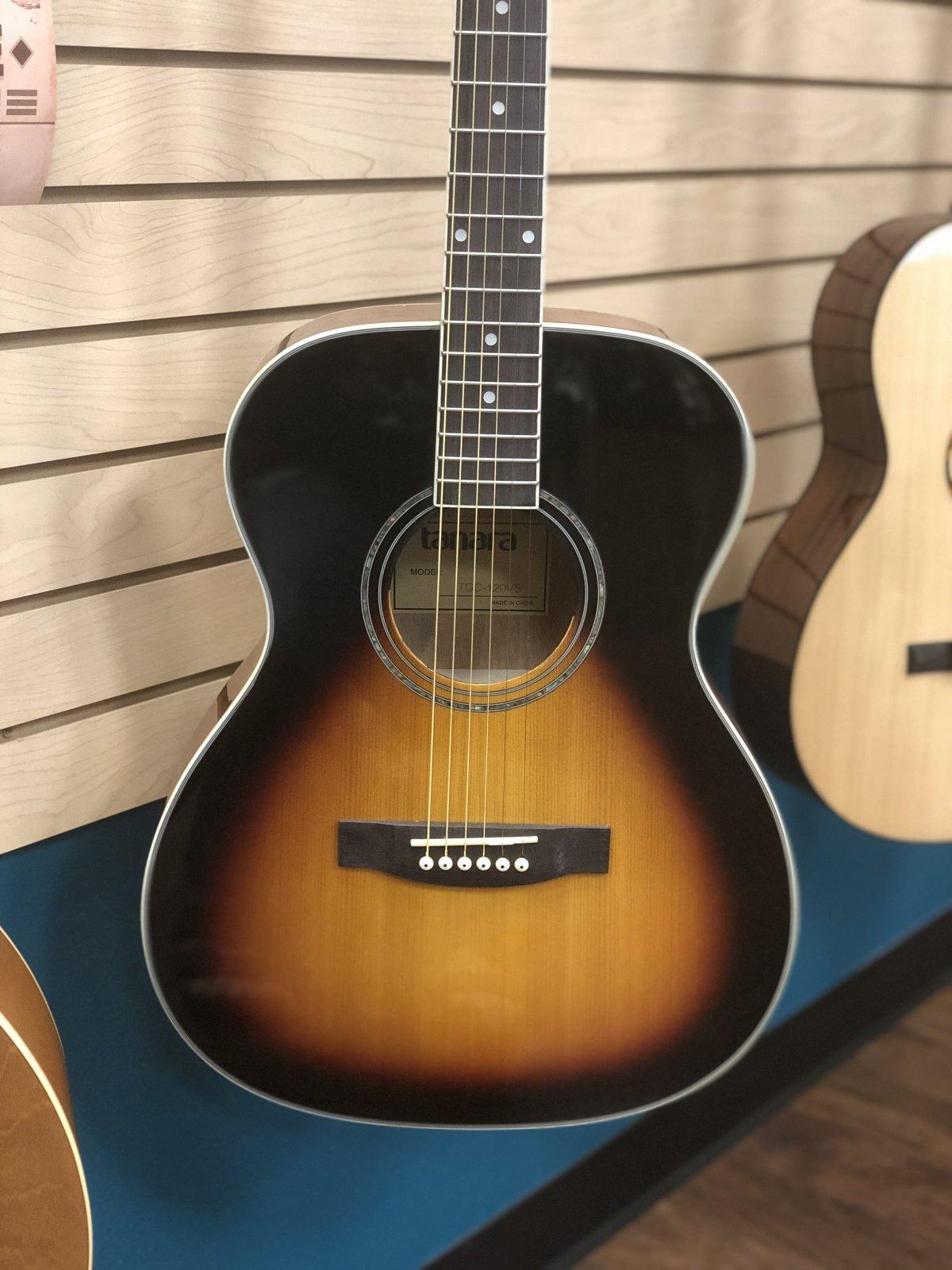 TanaraTGC120VS Grand Concert Acoustic Guitar - Vintage Sunburst