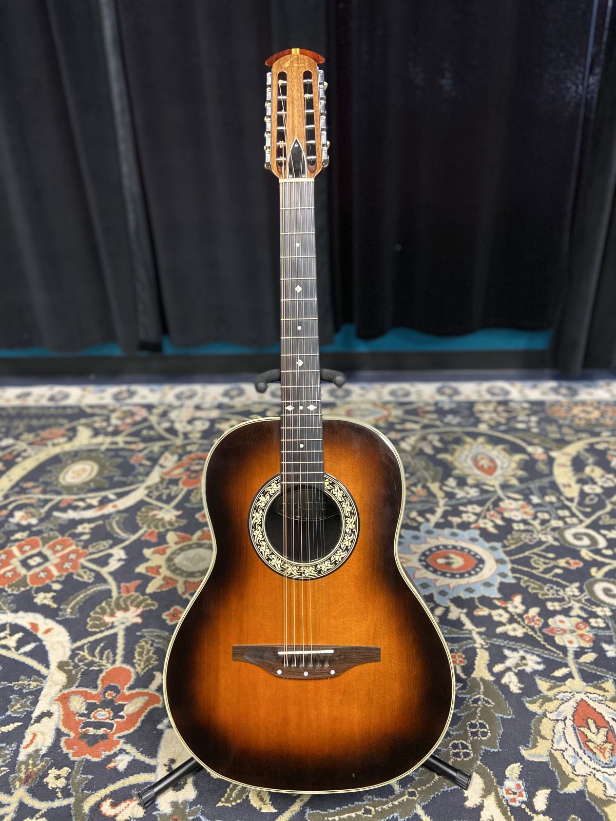 Preowned Ovation Acoustic 12 String Guitar with Case