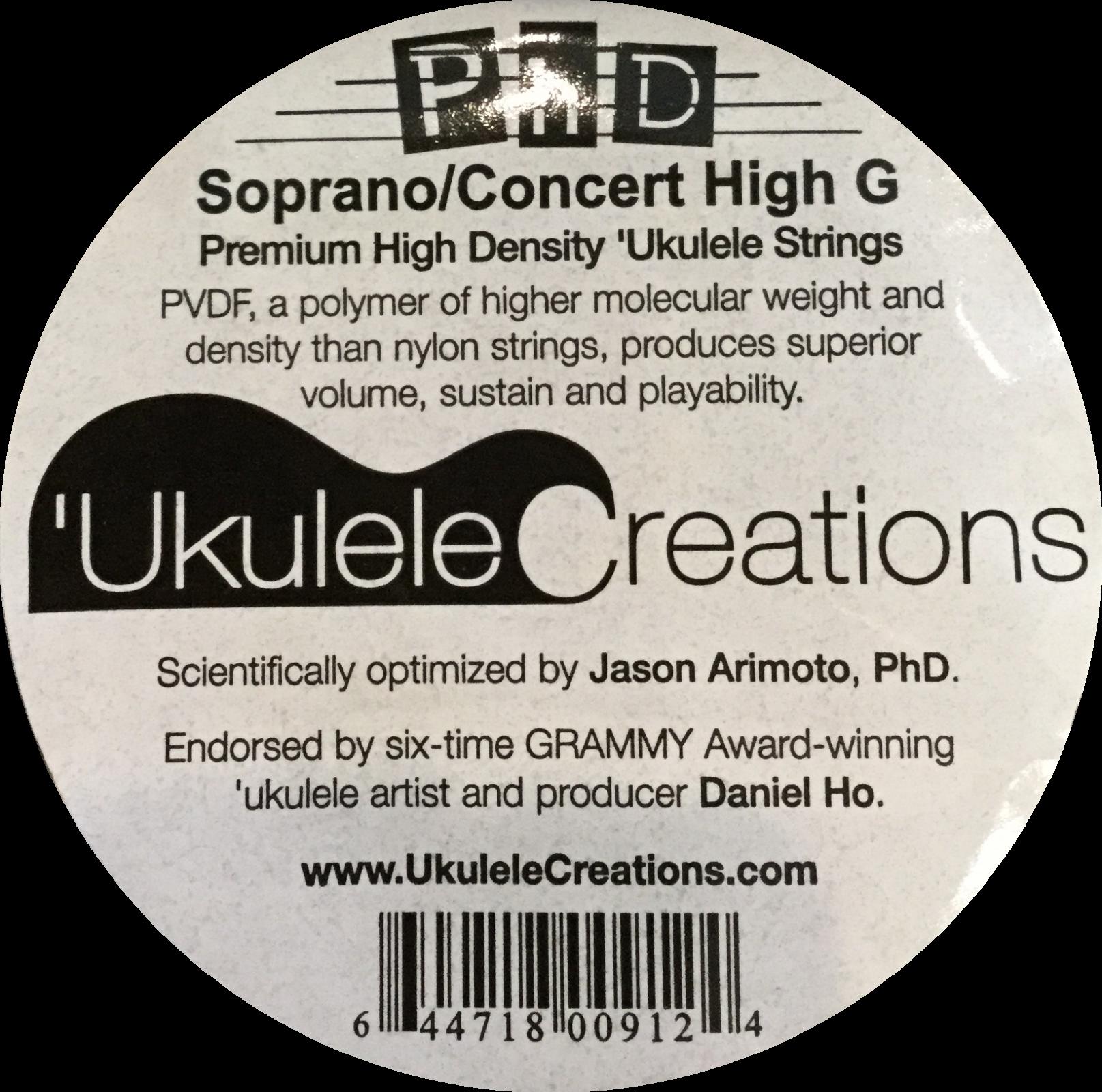 PhD Soprano/Concert Ukulele Strings set