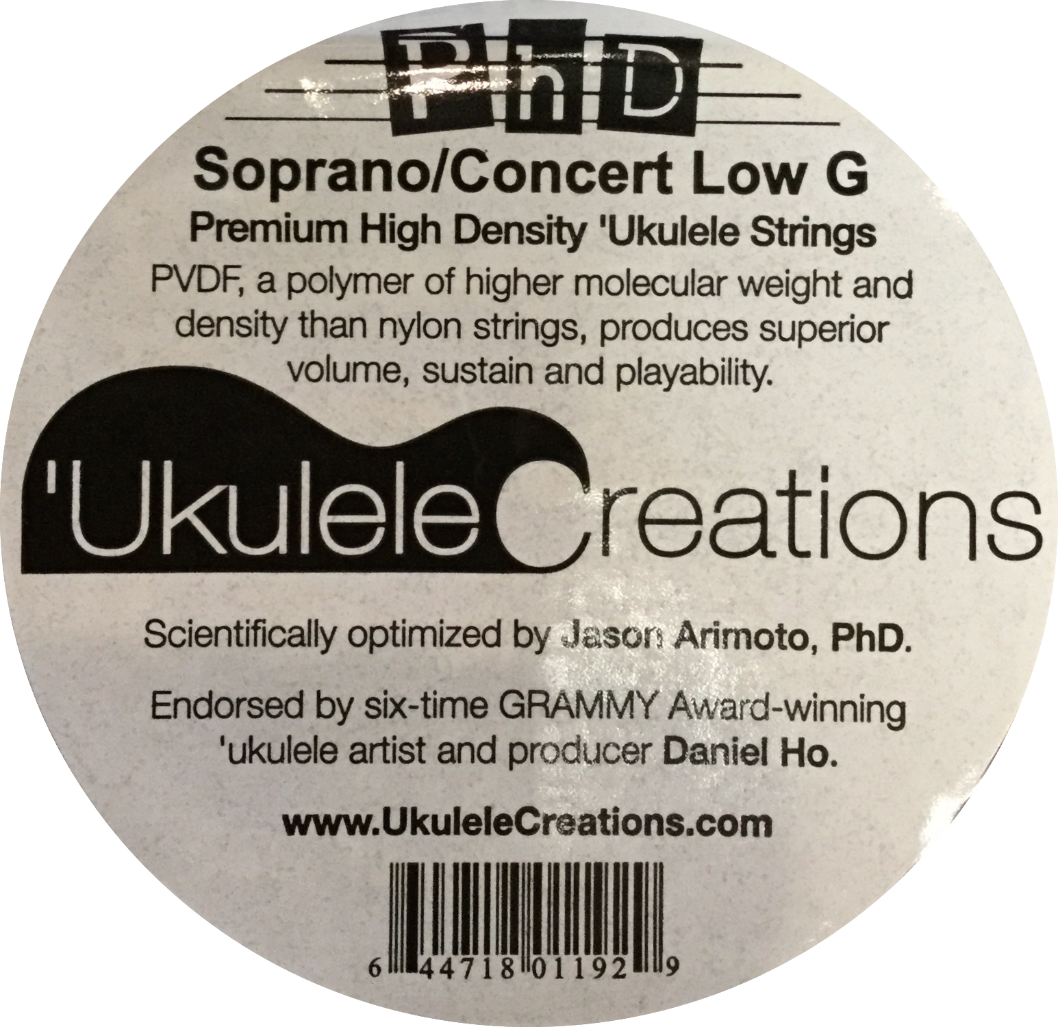 PhD Soprano/Concert Low G Ukulele Strings