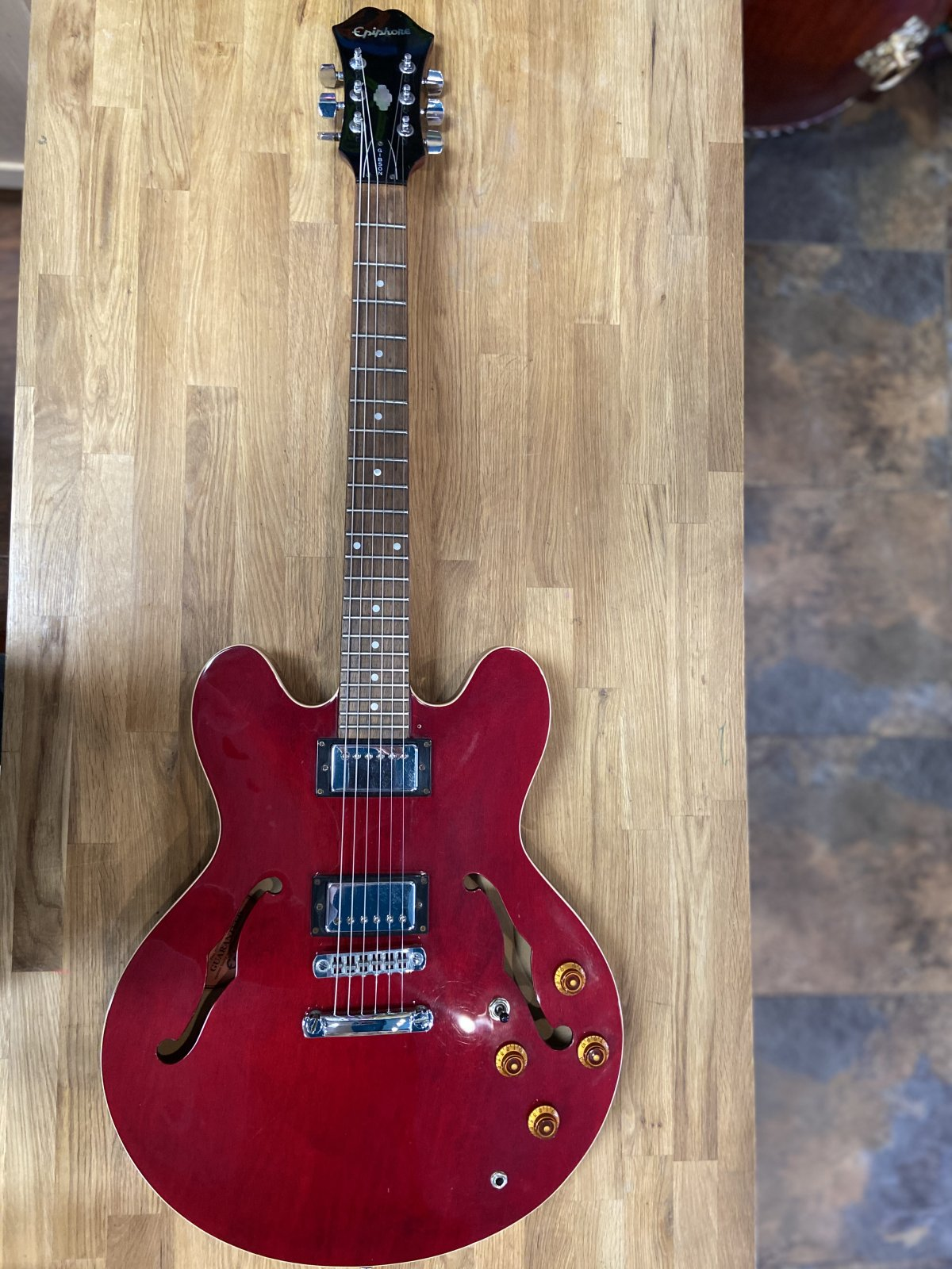 1997 Epiphone DOT Semi-Hollow Electric Guitar w/Case