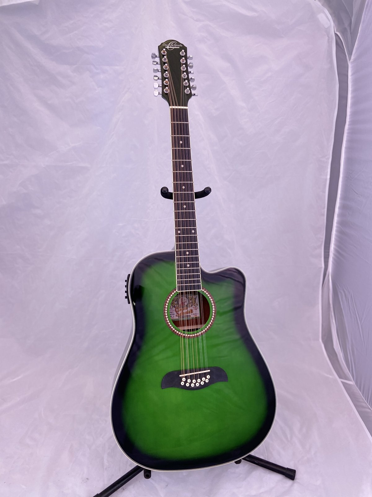 Oscar Schmidt 12-String Acoustic-Electric Guitar - Trans Green