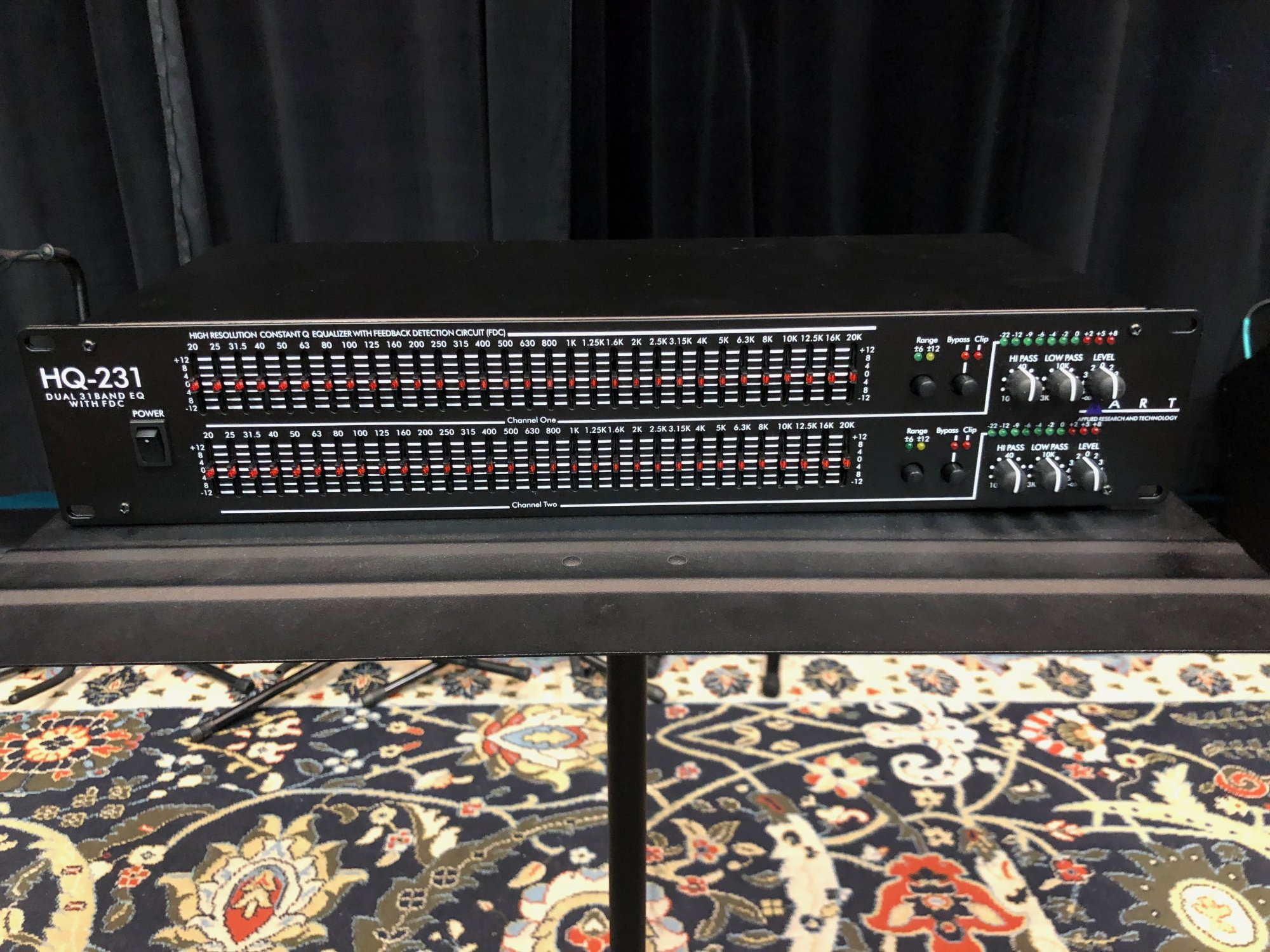 Preowned ART HQ231 Dual 31-Band Graphic Equalizer