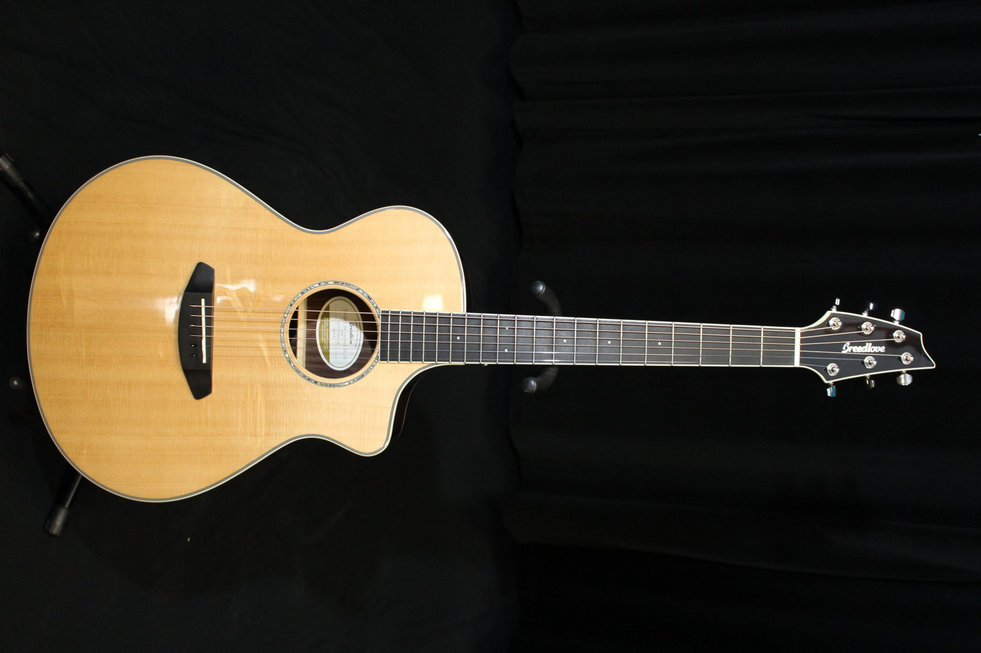 Preowned Breedlove Pursuit Exotic Concert CE Acoustic-Electric Guitar w/Bag - Indian Rosewood