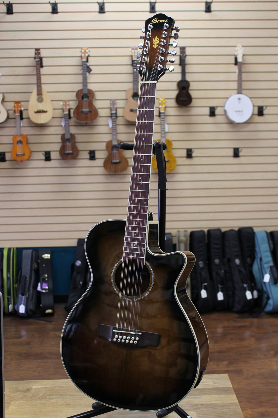 Preowned Ibanez AEG1812II-DVS 12-String Guitar