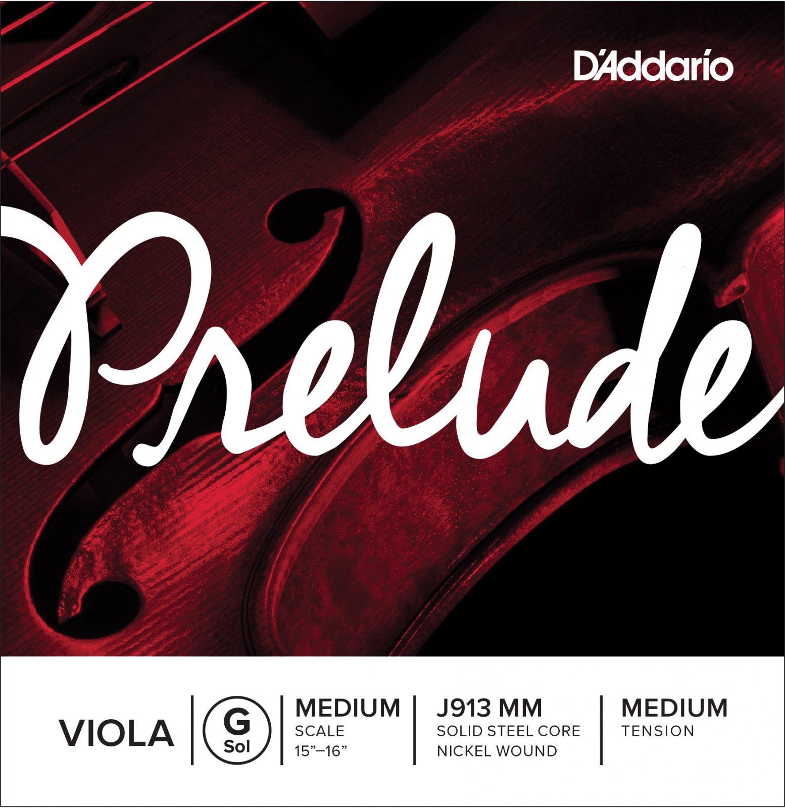 D'Addario J913MM Prelude Viola Single G String, Medium Scale, Medium Tension