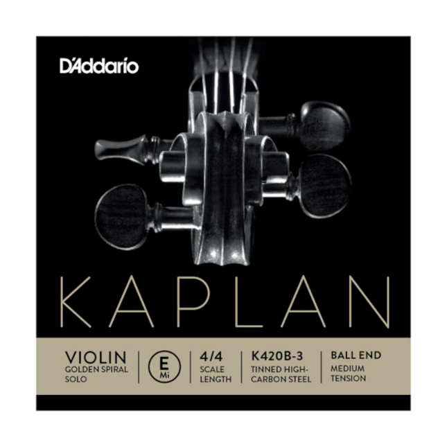 D'Addario Kaplan Violin Aluminum Wound K311GB 4/4 Medium Tension