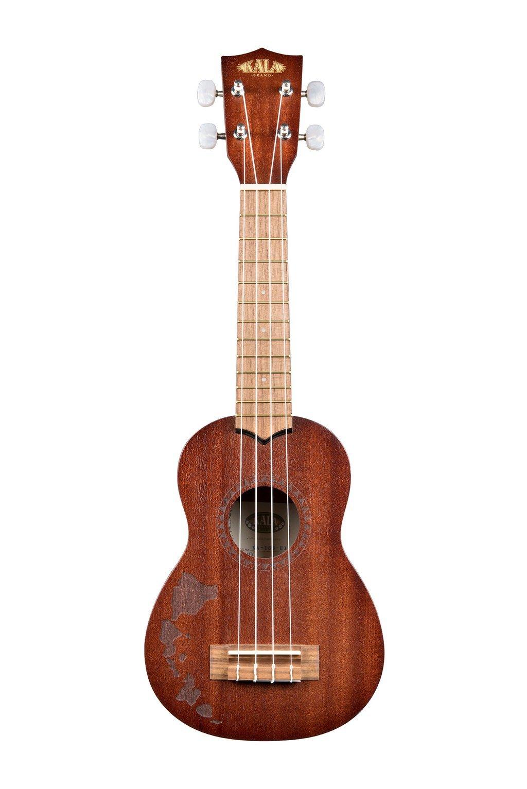 Kala KA-15S-H1 Satin Mahogany Soprano Ukulele w/Hawaiian Islands