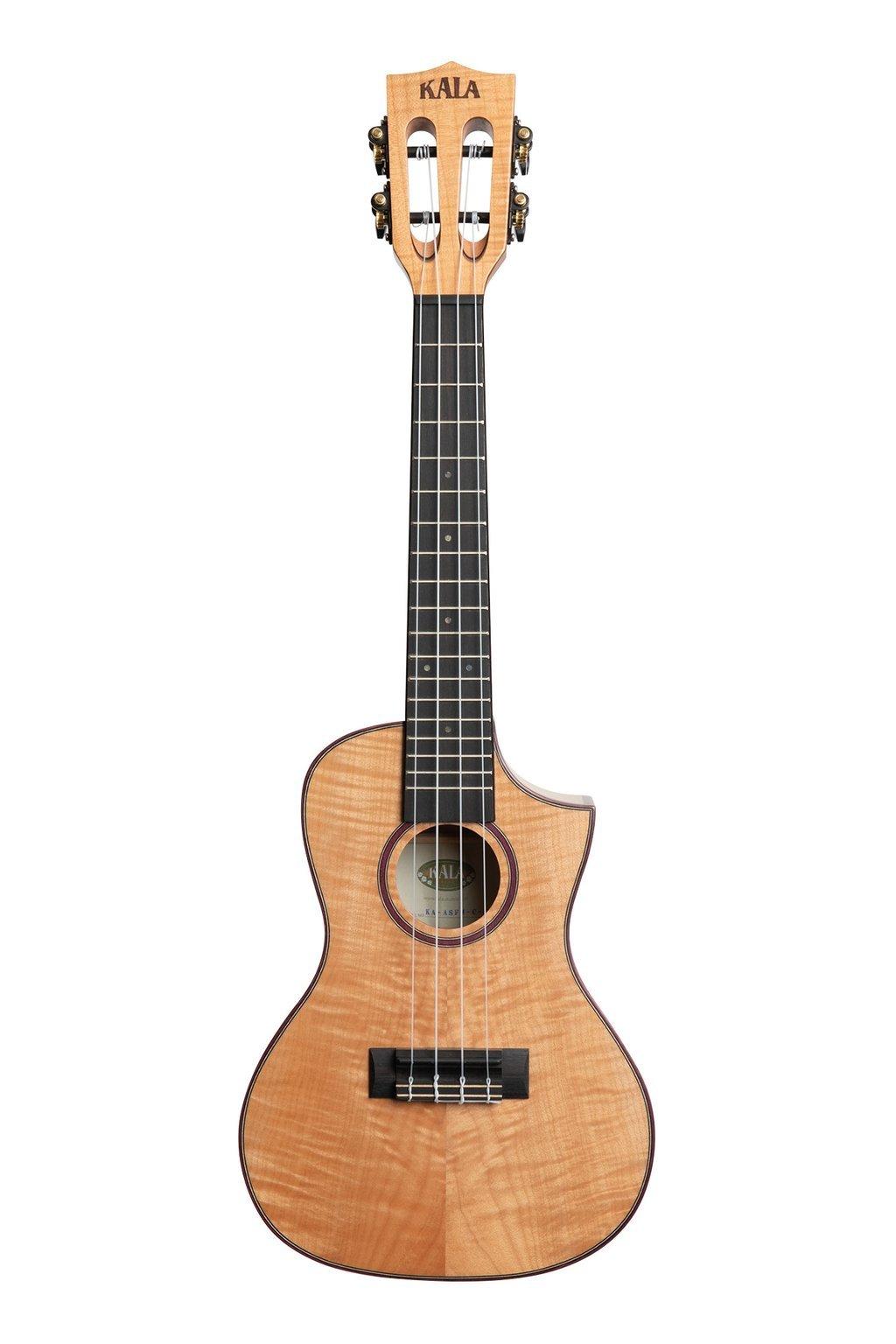 Kala Solid Flame Maple Concert Cutaway Ukulele
