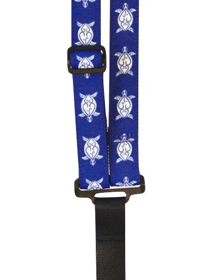 ST 1 Hawaiian Print Classical Neck Strap - Blue Turtle