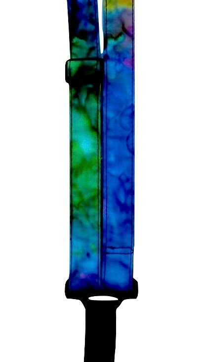 Sherrin's Threads 1 Classical Neck Strap - Tie Dye Blue