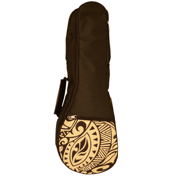 Kala Hawaiian Accent Ukulele Bag - Cream Tribal