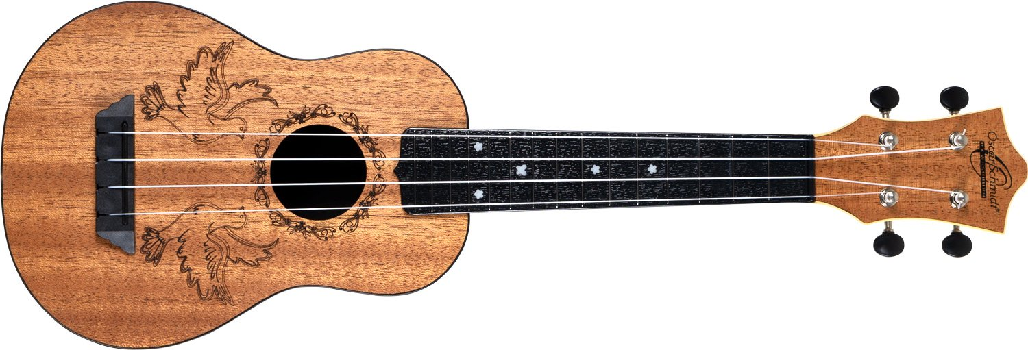 Oscar Schmidt Nature Series Soprano Ukulele - Dove Design