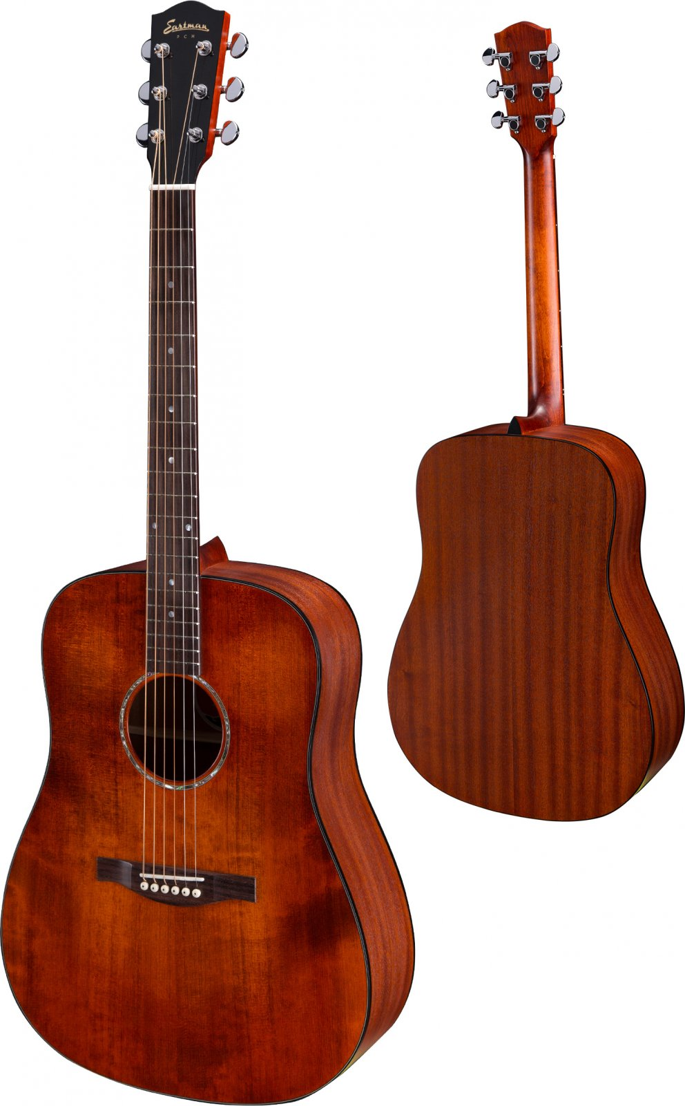 Eastman PCH2-D-CLA Dreadnought Acoustic Guitar - Solid Spruce Top - Classic Finish