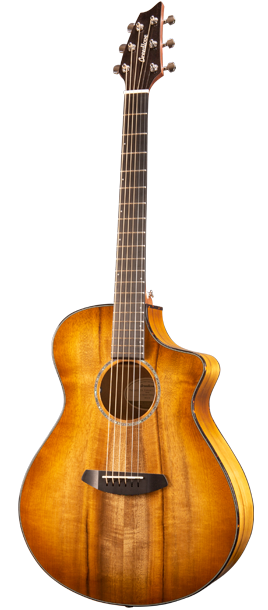 Breedlove PSCN29CEMYMY Pursuit Exotic Concert Acoustic-Electric Guitar - Prairie Burst - All Myrtlewood